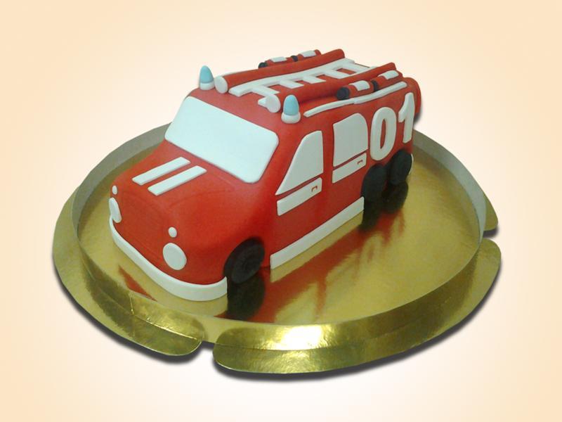 снять торт пожарная машина фото печать поверил