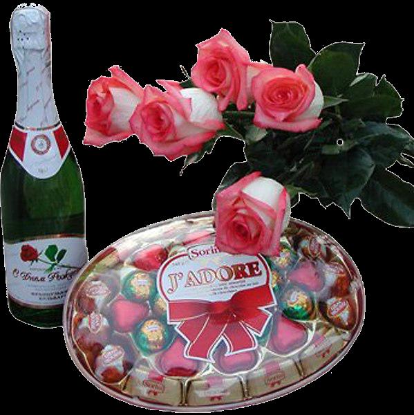 Открытки конфеты с шампанским, для