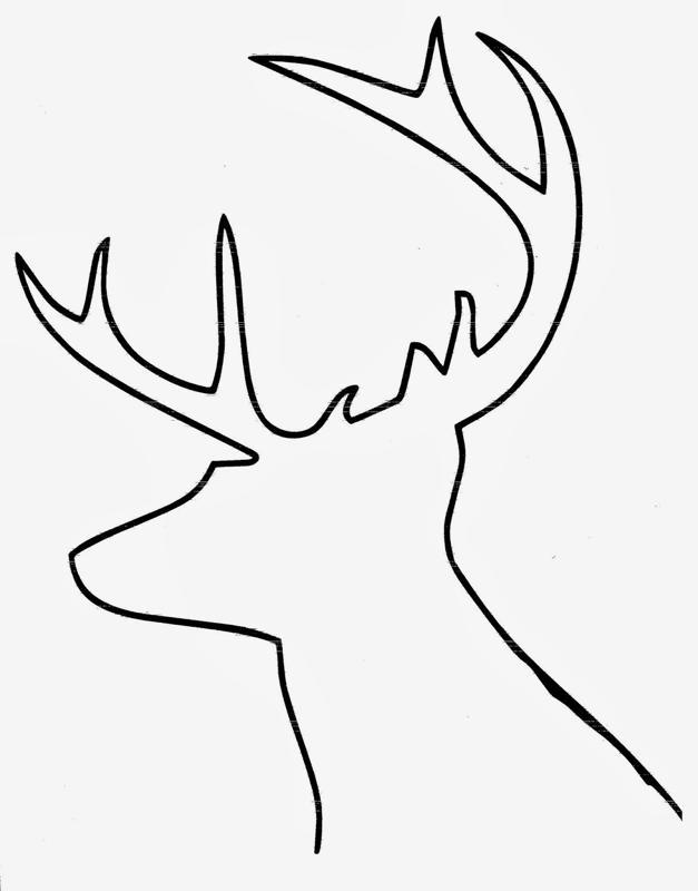 Картинки трафарет головы оленя