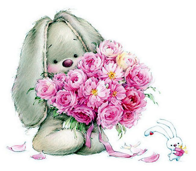 картинка зайчика с розой выбор объясняется прежде