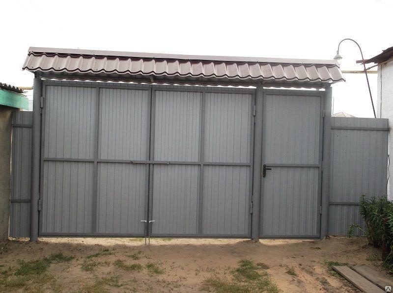 Ворота на дачу тюмень грамотные ворота для участка