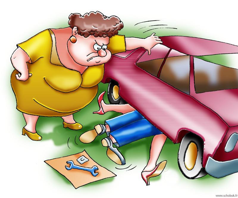 Картинки ремонт машин прикольные