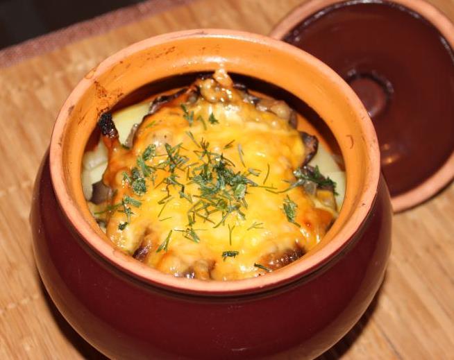 Картошка с мясом в горшке